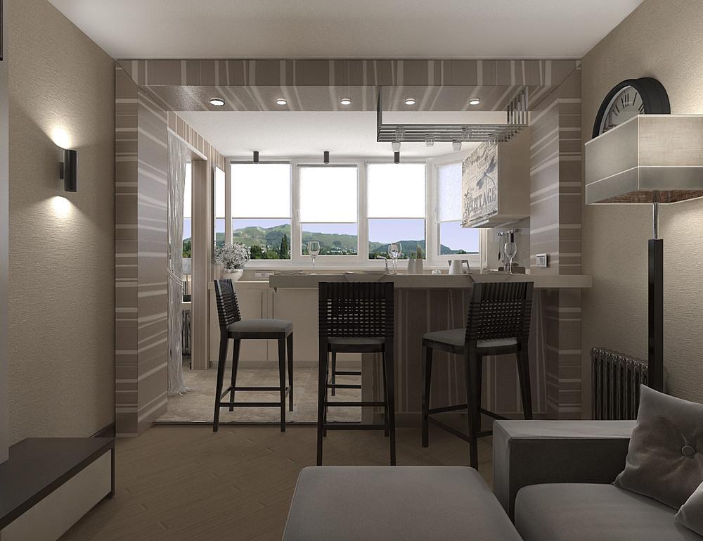 Дизайн интерьера квартиры 45 м