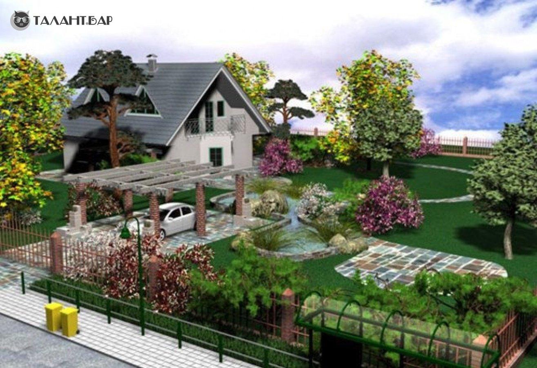 """Дизайн участка загородного дома фото """" Картинки и фотографии дизайна квартир, домов, коттеджей"""