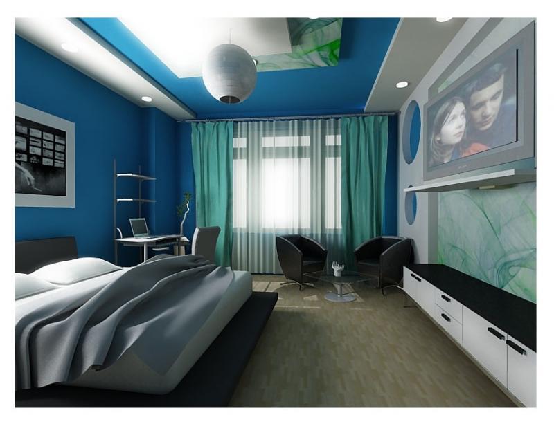 Дизайн комнаты молодого человека 12 кв.м