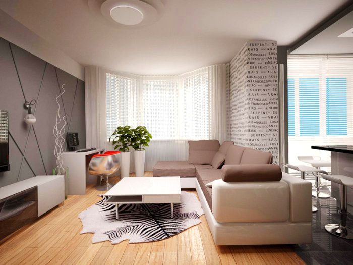 Дизайн проект двухкомнатной квартиры типовой