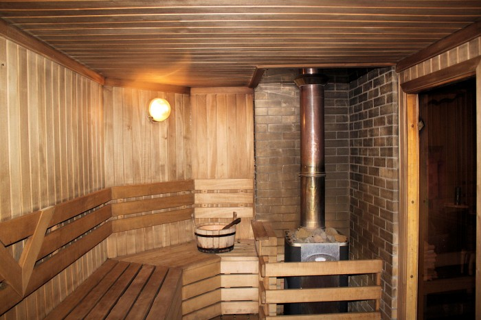 Дизайн бани с комнатой отдыха внутри 4 на 3
