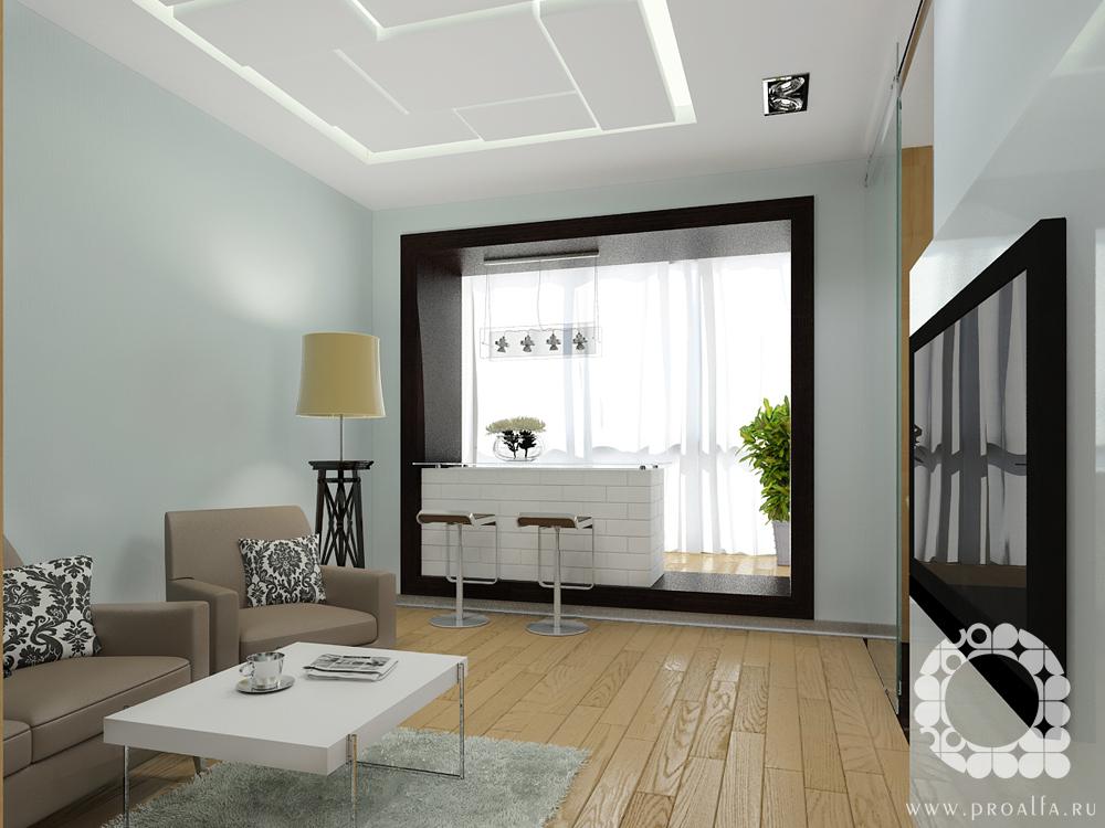 Интерьер гостиной в хрущевке с балконом фото