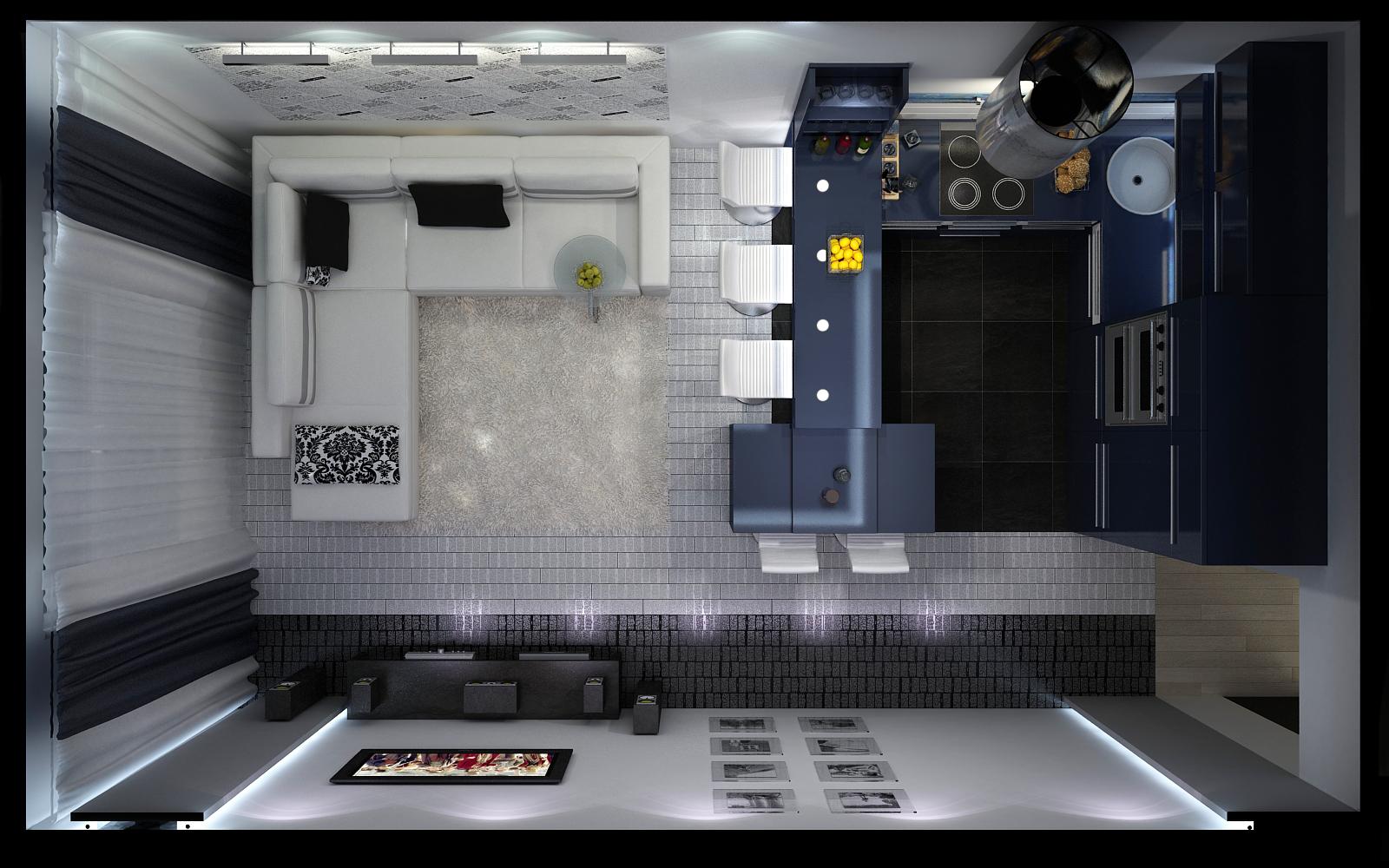 Маленькая кухня с гостиной дизайн