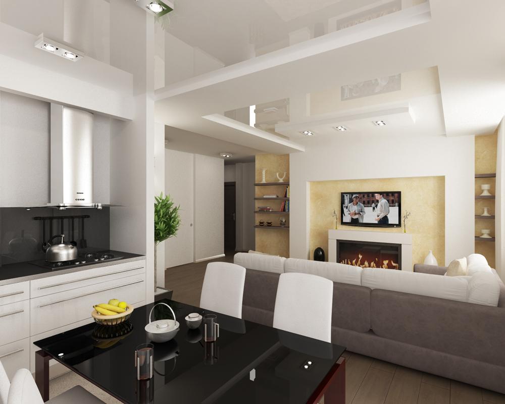 Кухни совмещенная с гостиной интерьер и дизайн