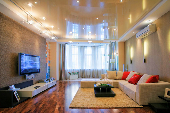 Фото дизайн потолков для зала