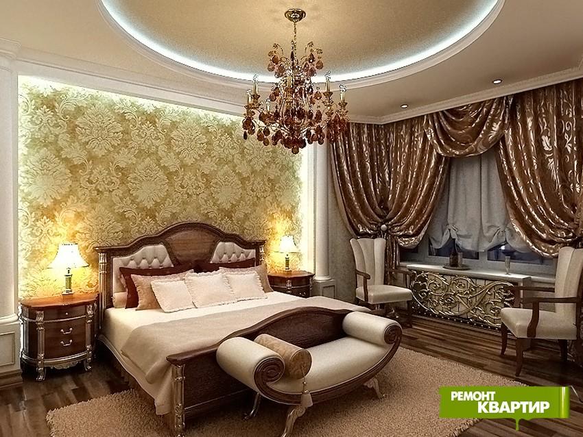 Ремонт классика спальни