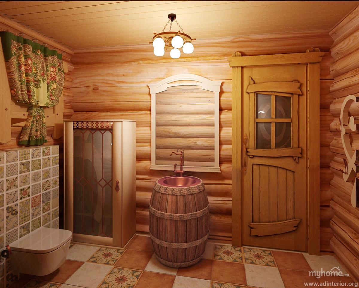 Интерьер в русской бане своими руками