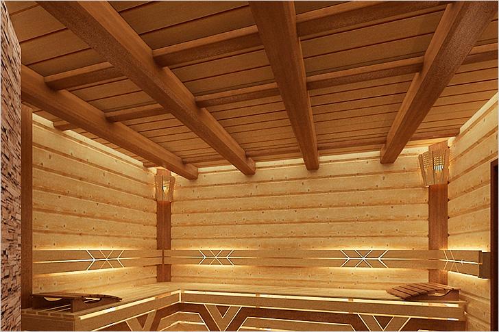 Потолок у бани