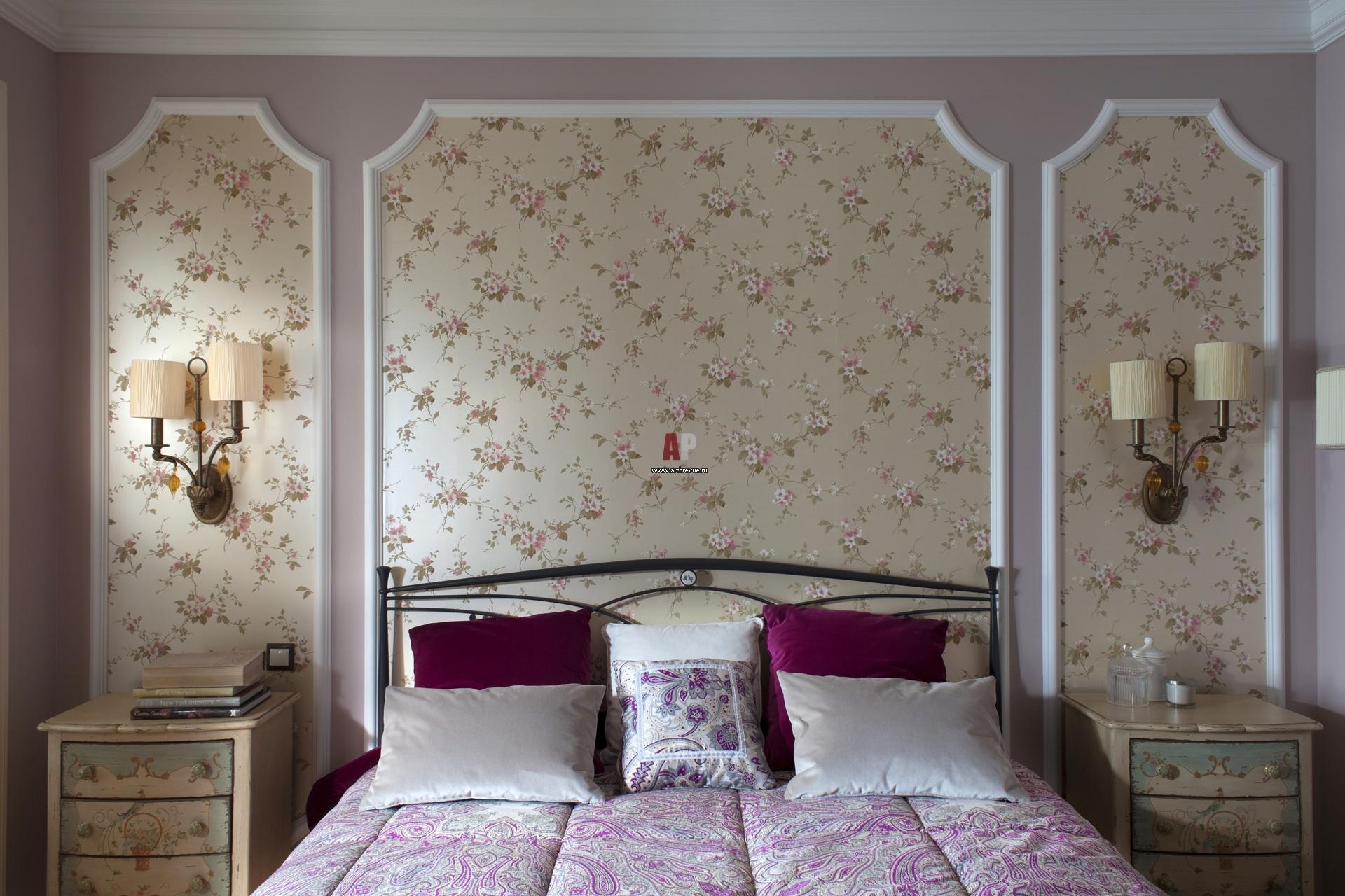 """Обои для стен в спальню фото """" Картинки и фотографии дизайна квартир, домов, коттеджей"""