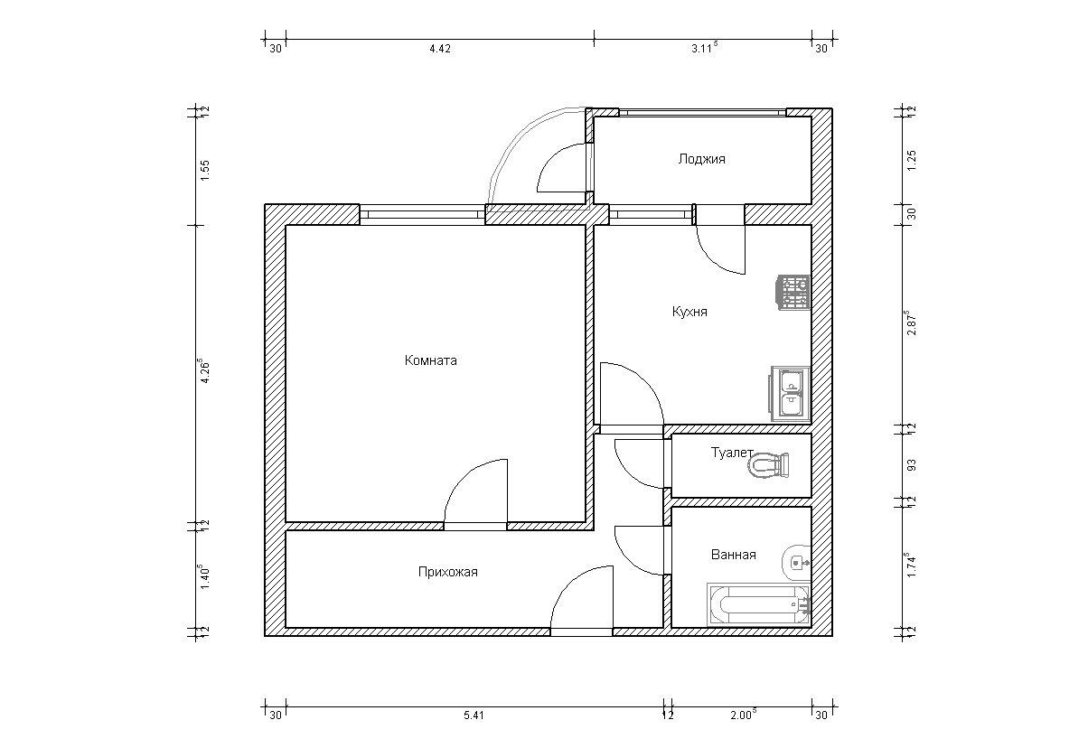 Нарисовать план квартиры по размерам онлайн.