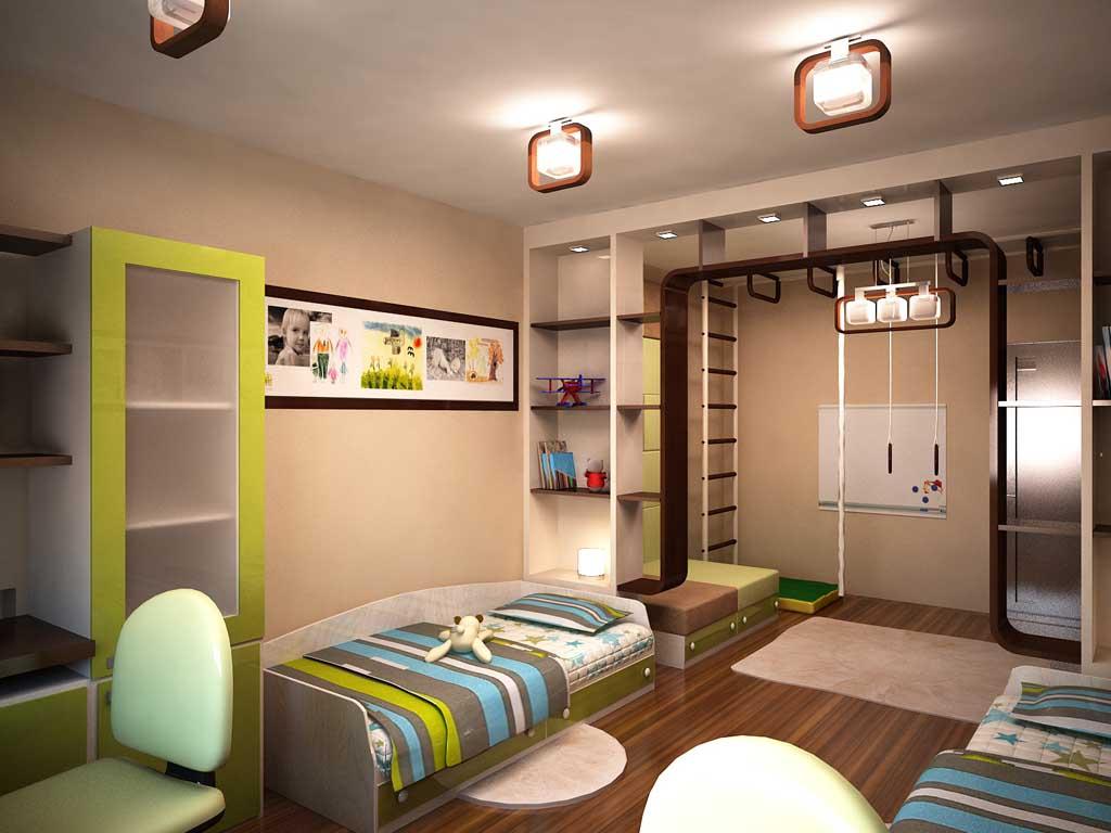 Дизайн интерьера детских комнат для двух детей с фото