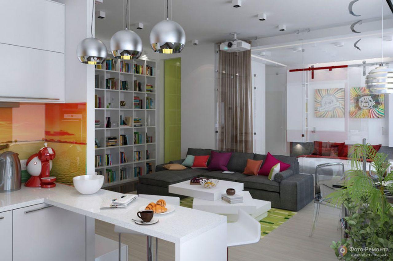 Дизайн интерьера однокомнатной квартиры 47 кв м