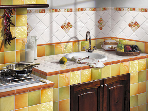 Дизайн кухні плитки