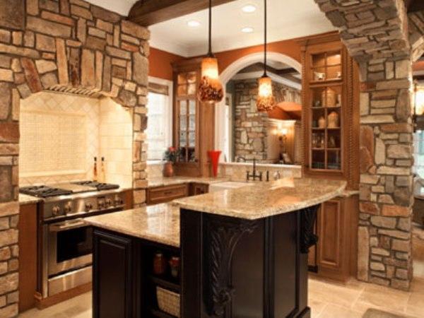Дизайн кухни с декоративной плиткой