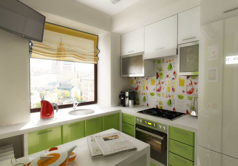 Маленькие кухни в хрущевке 5.5 кв. м дизайн