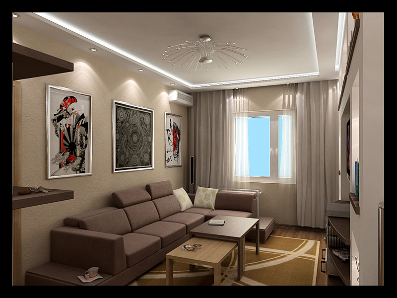 Дизайн интерьера 2х комнатной квартиры без посредников Готовые проекты дизайна 2х комнатной квартиры