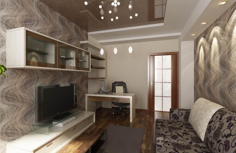 Дизайн зала в 2-х комнатной хрущевке