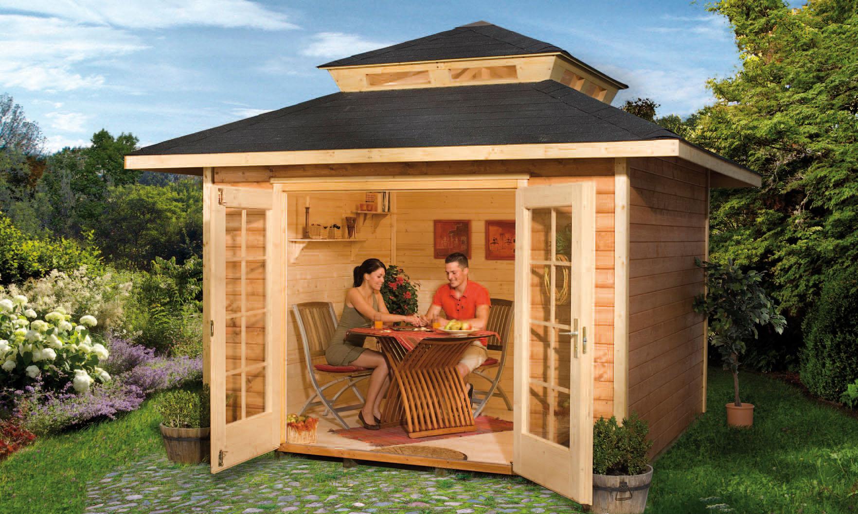 Садовый деревянный домик своими руками