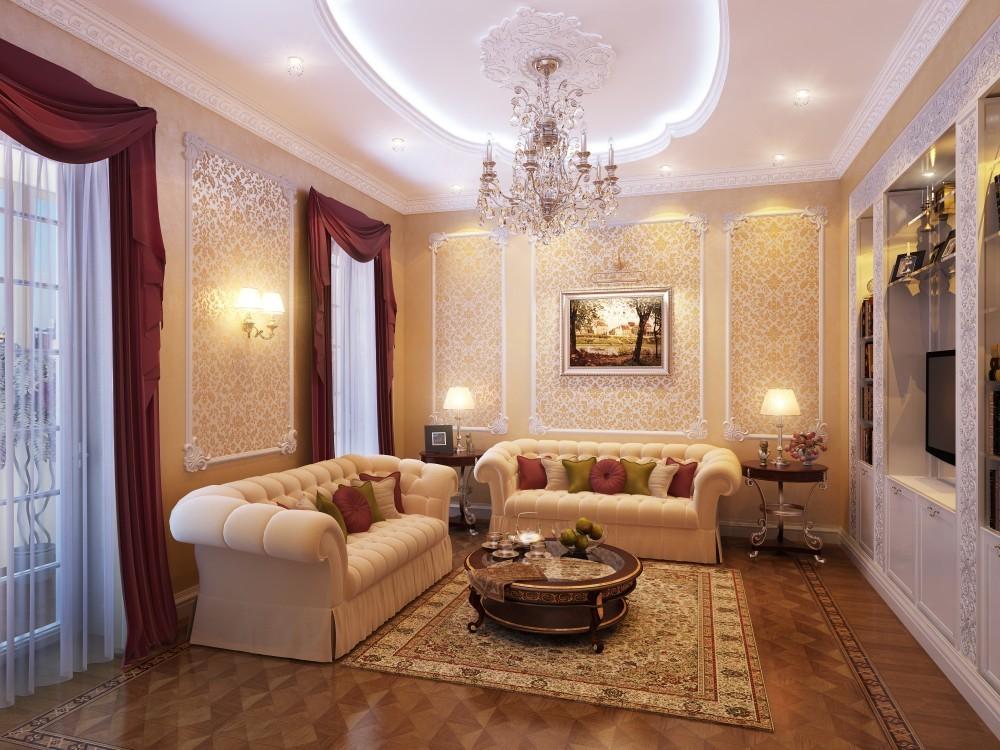 Дизайн интерьера квартиры фото в классическом стиле
