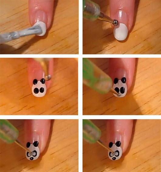 Рисунки на ногтях в домашних условиях с водой