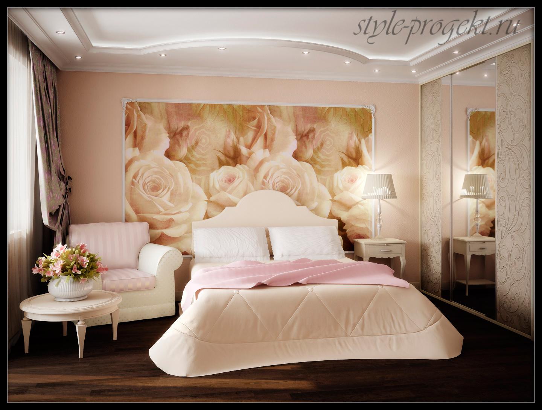 Фотообои для спальни дизайн 4