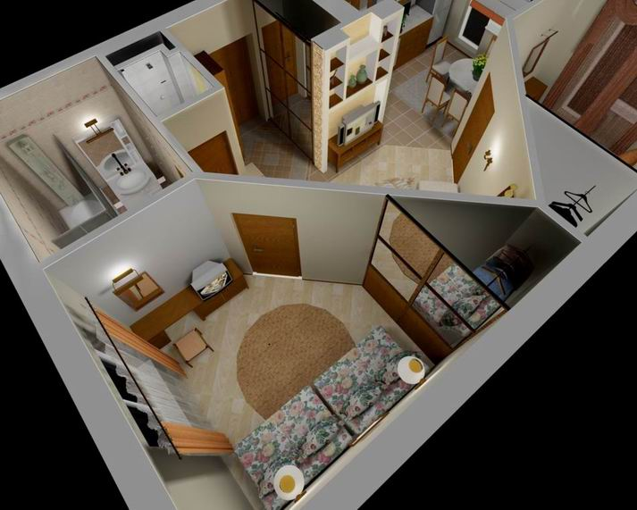 Как из однокомнатной квартиры сделать две комнаты