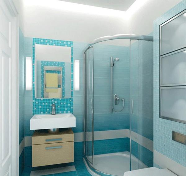 Дизайн ванны с душевой кабиной