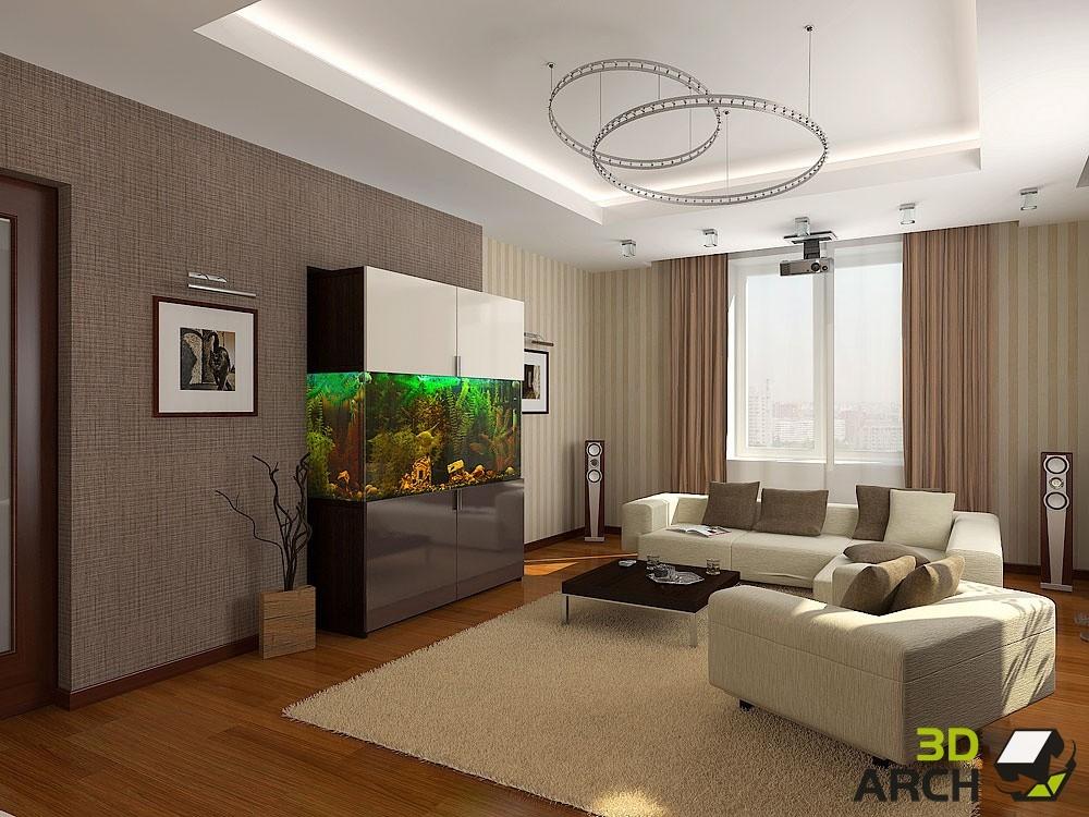 Дизайн проект зала 20 кв.м