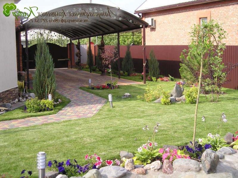 Интерьер двора частного дома своими руками