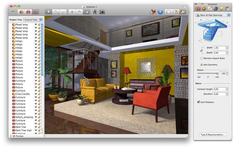 Создать дизайн комнаты на русском языке