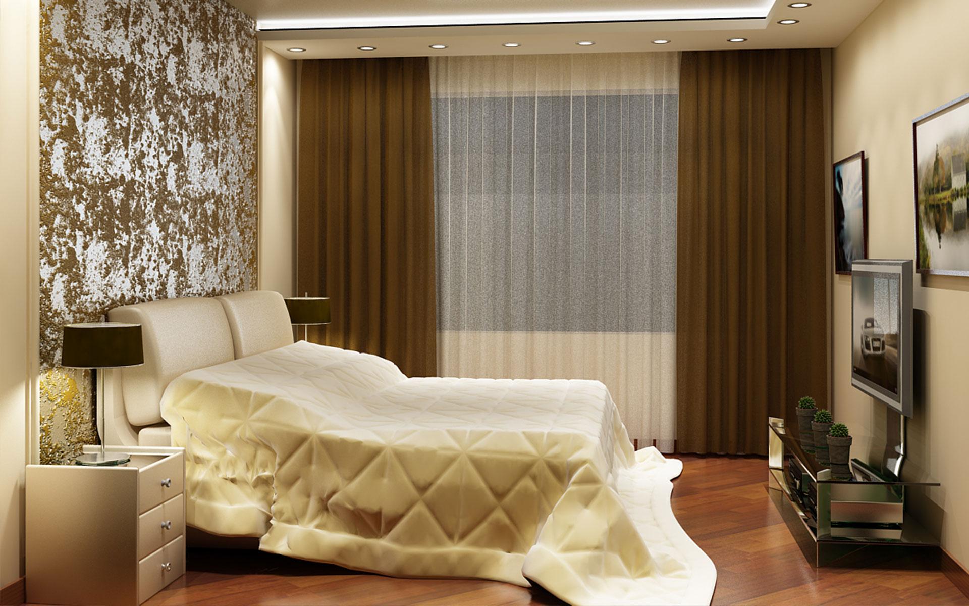 Спальни интерьер потолок 99