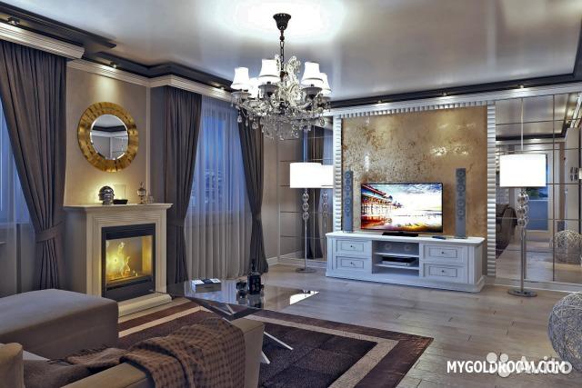 Фото дизайна гостиной 24 кв.м