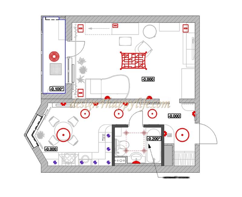 Дизайн однокомнатной квартиры серии п 44к.