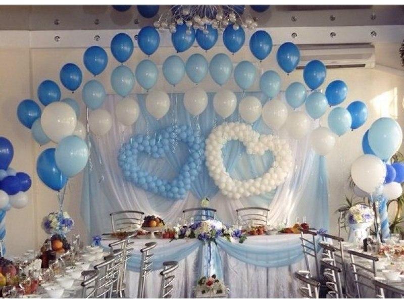 Украшение зала на свадьбу шарами фото своими руками