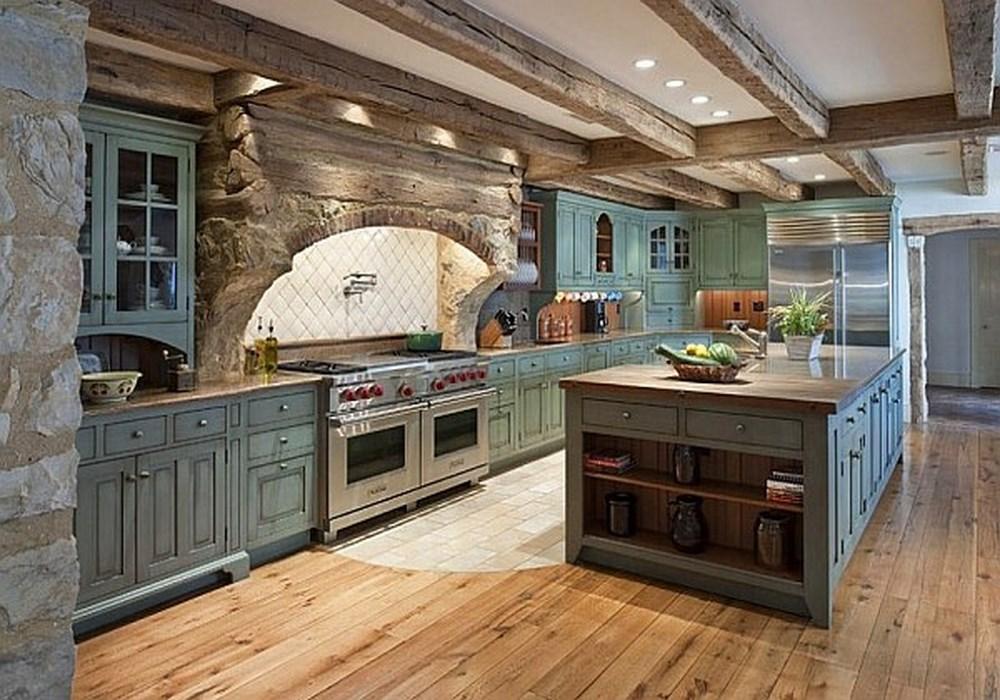 Дизайн интерьера кухни в старых домах 19