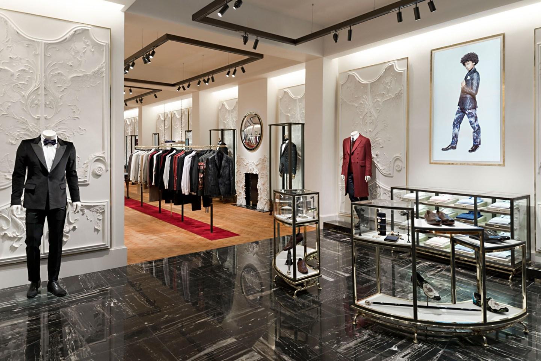Интерьер бутика мужской одежды