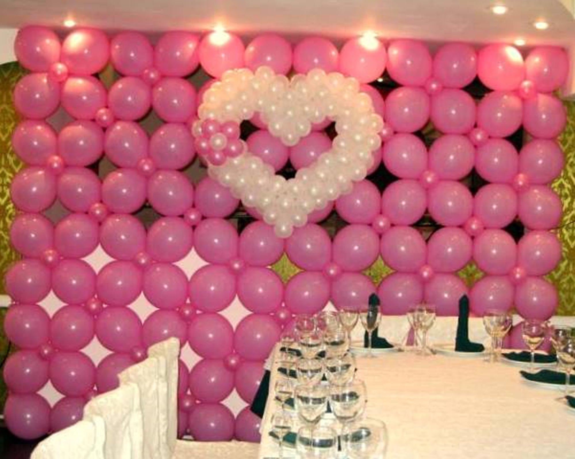 Как своими руками украсить шарами свадьбу