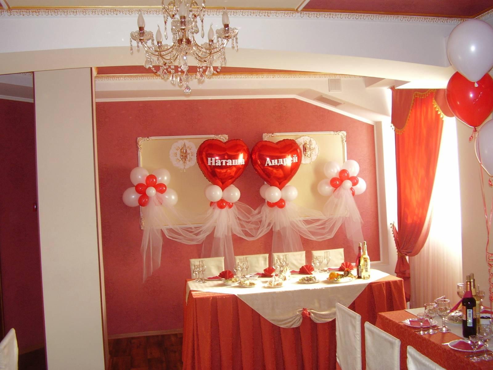 Украшение зала своими руками шарами на свадьбу