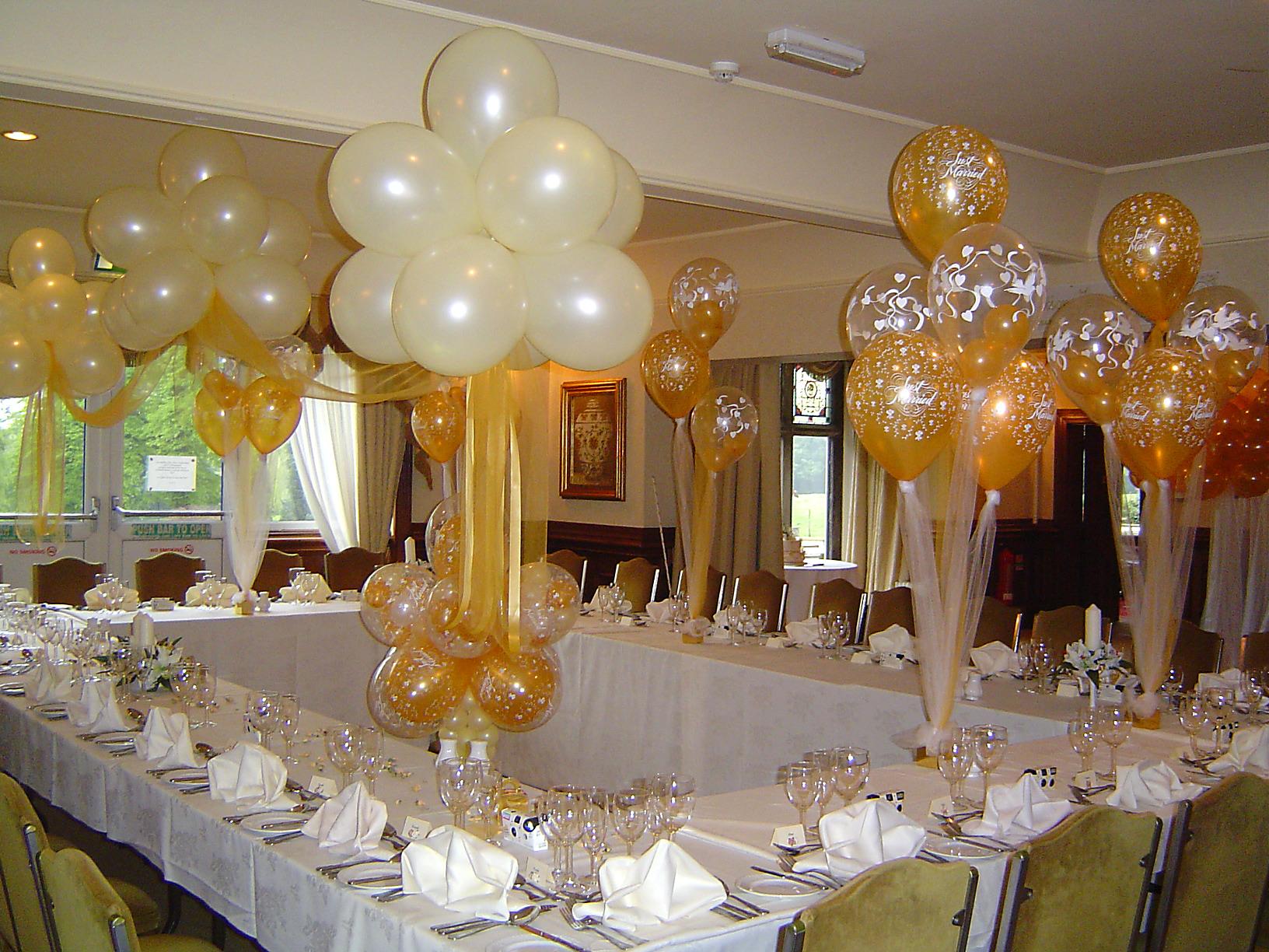 Как своими руками украсить зал шарами на свадьбу фото