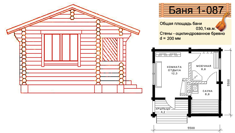Каркасная баня на даче чертежи
