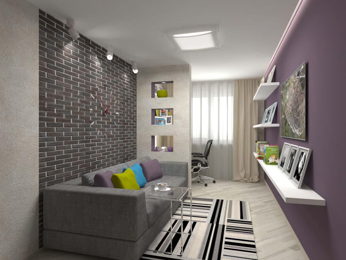 дизайн комнаты для молодого человека фото подробно расписанный