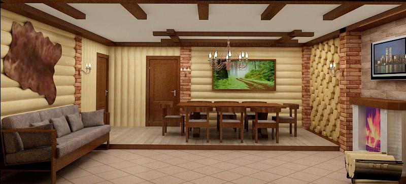 Дизайн интерьера сауны и комнаты отдыха