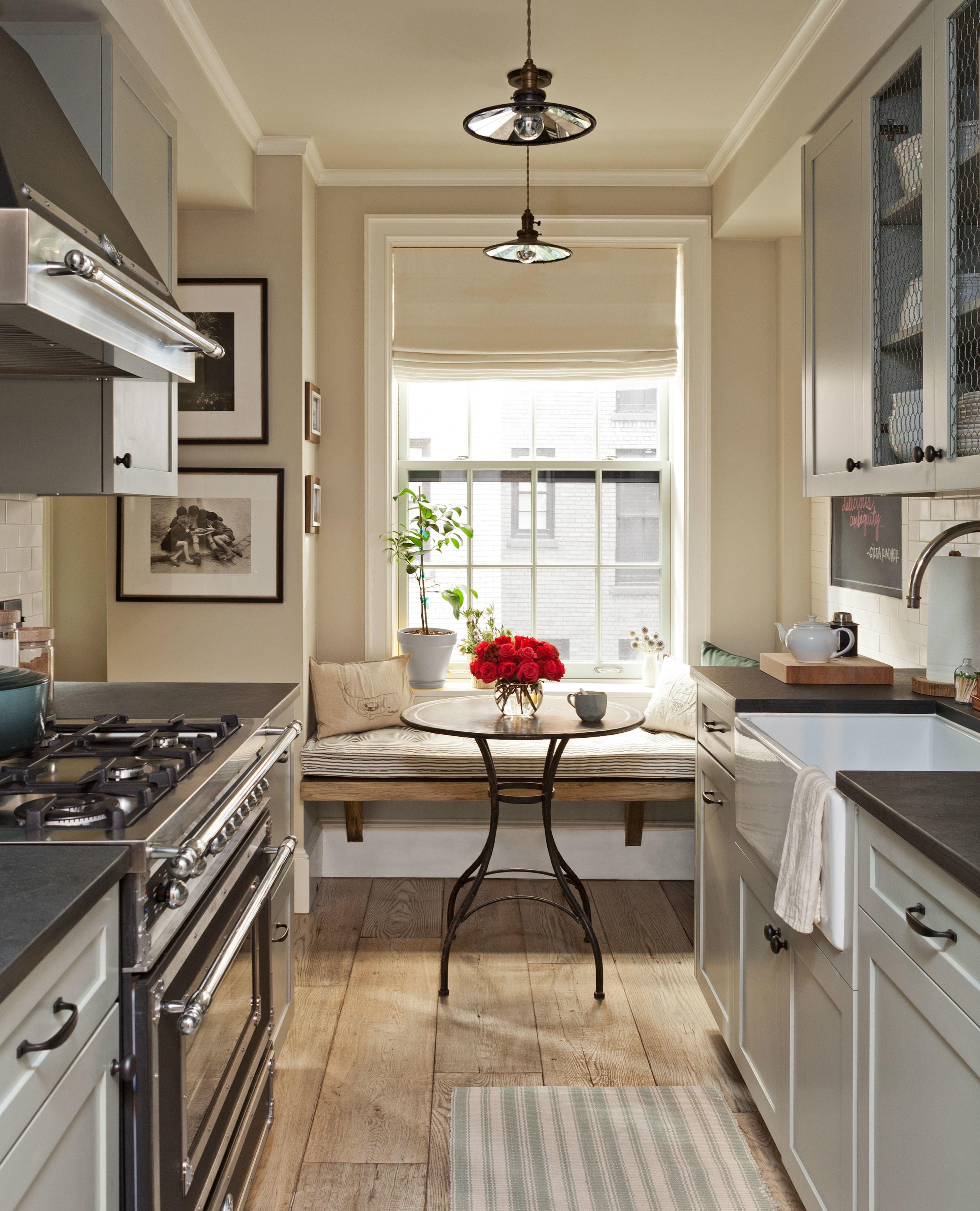 Дизайн кухни длинной и узкой