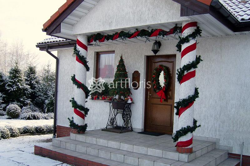 Оформление фасадов зданий на новый год