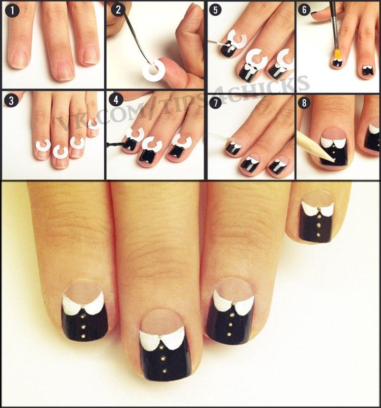 Дизайн ногтей для начинающих на коротких ногтях