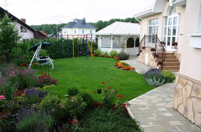 Ландшафтный дизайн своими руками частного двора