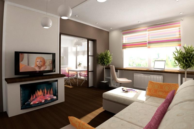Интерьер 1-комнатной квартиры 30 кв.м фото