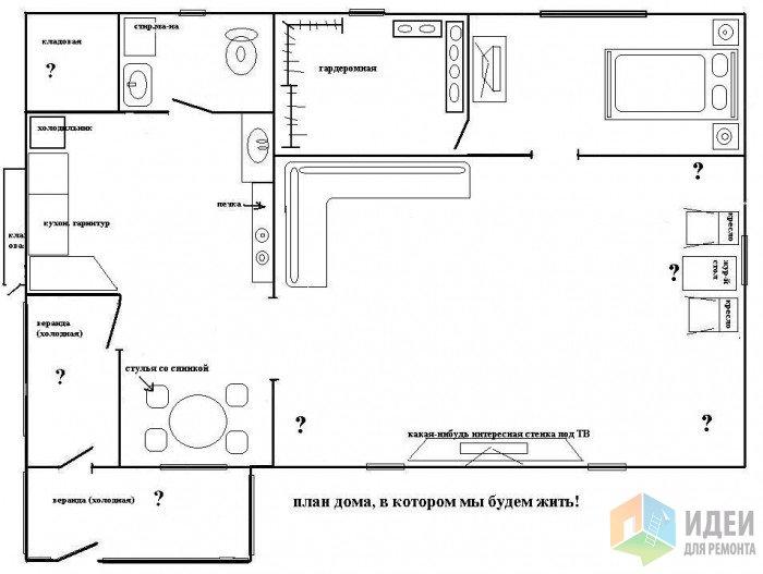Как правильно нарисовать схему комнат