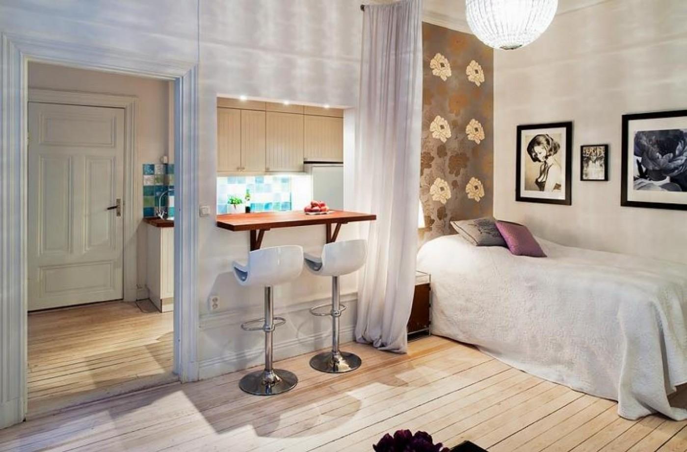 Идеи для комнаты в однокомнатной квартире фото