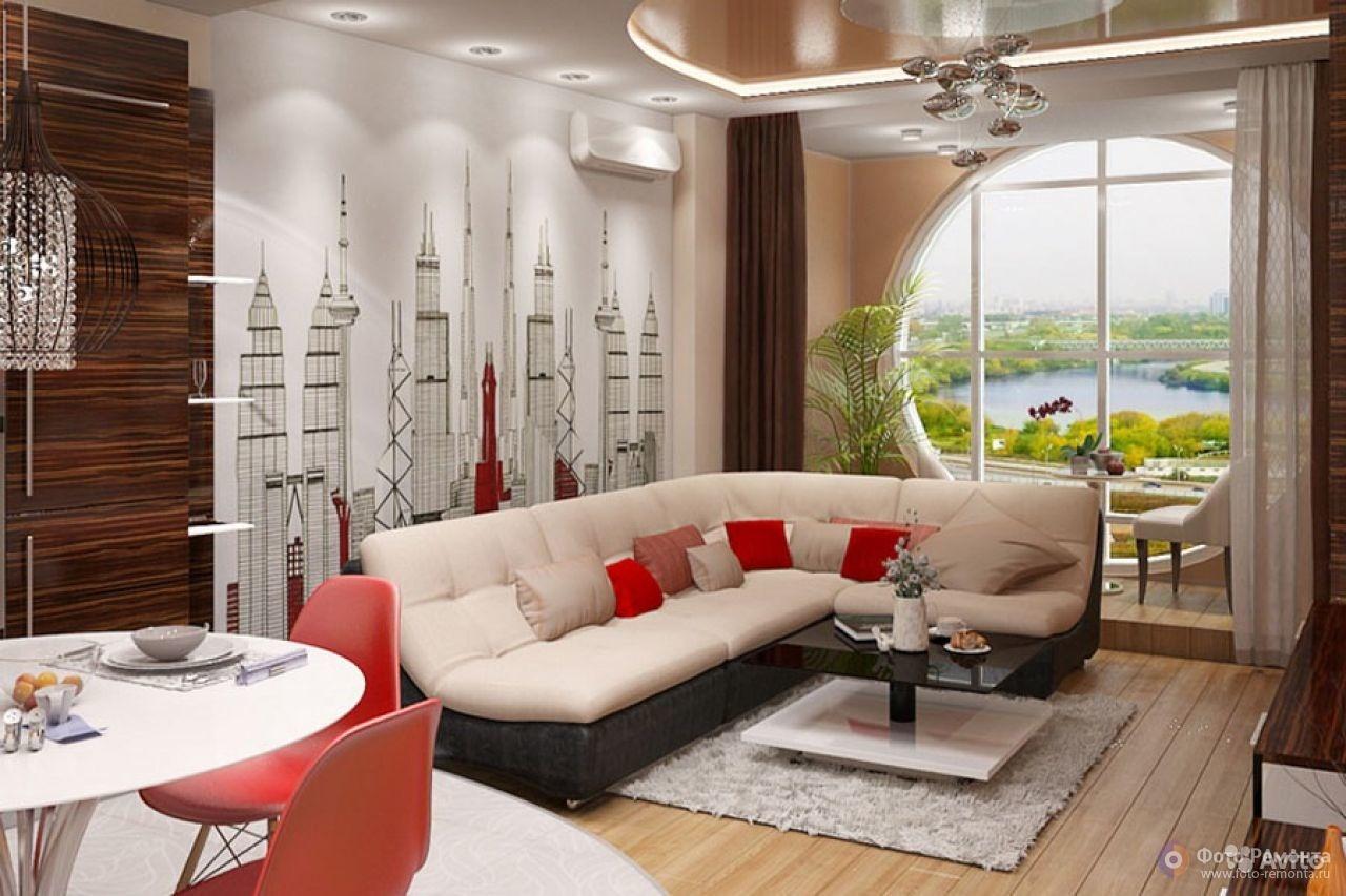 Фото 4 комнатной квартиры с дизайном